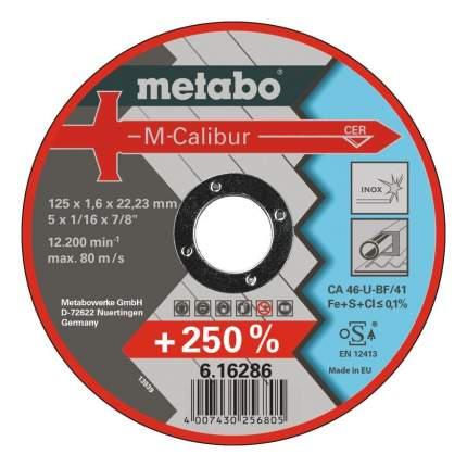 Диск отрезной абразивный по камню для УШМ metabo 616285000