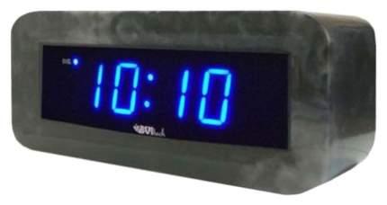 Часы-будильник BVItech BV-18BBM Синий/Мрамор