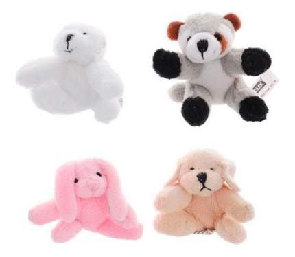 Мягкая игрушка Beanzees B34011 Мини плюш в наборе Медведь, Енот, Кролик, Песик