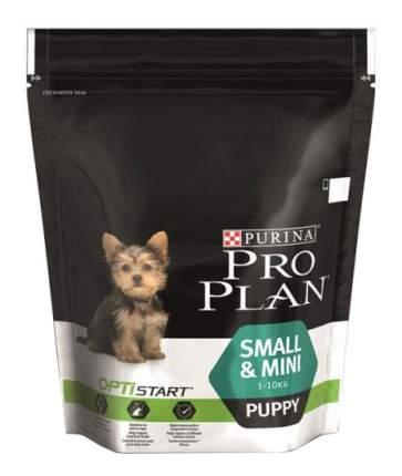 Сухой корм для щенков PRO PLAN OptiStart Small&Mini Puppy, для мелких пород, курица, 0,7кг