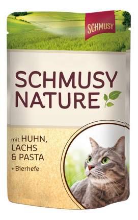 Влажный корм для кошек Schmusy Nature's Menu, с курицей и лососем, 100г