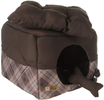 Домик для кошек и собак ЗООГУРМАН 45x45x45см коричневый
