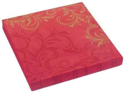 Бумажные салфетки Duni grace трехслойные бордовые 40x40 см 12 штук