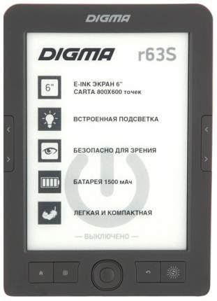 Электронная книга Digma R63S E-Ink Dark Grey