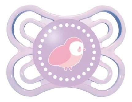 Силиконовая пустышка ортодонтическая MAM Perfect птичка фиолетовая