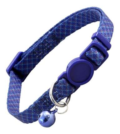 Ошейник для кошек Triol hL27 10х210-330 мм нейлон, синий, 21-33 см