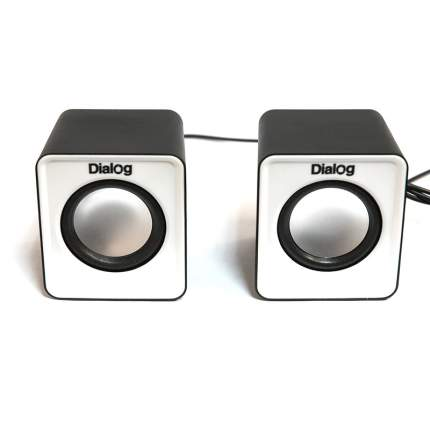 Колонки компьютерные Dialog Colibri AC-02UP Белый/Черный