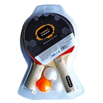 Набор для настольного тенниса X-Match 635267, 2 ракетки, 3 мяча