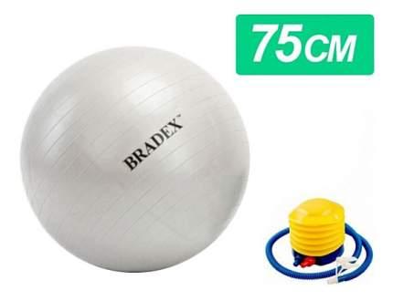 Гимнастический мяч Bradex Фитбол-75 с насосом серебристый 75 см