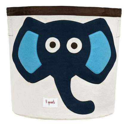 Корзина для хранения игрушек 3 sprouts Слоненок синий
