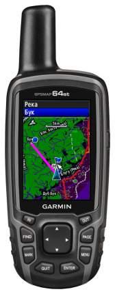 Туристический навигатор Garmin GPSMap 64ST Rus черный