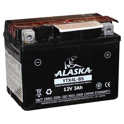 Аккумулятор автомобильный автомобильный ALASKA Moto YTX4L-BS 3 Ач