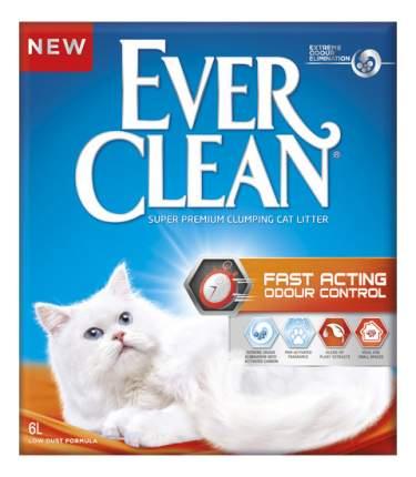 Комкующийся наполнитель для кошек Ever Clean Fast Acting угольный, 6 кг, 6 л
