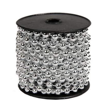 Kaemingk Бусы пластиковые Бисер 8 мм*10 м серебряные 9000151