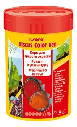 Корм для желтых и красных дискусов Sera DISCUS COLOR RED, гранулы, 100 мл