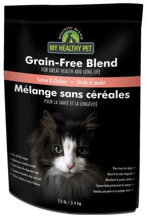 Сухой корм для кошек Holistic Blend Grain Free Blend, индейка, цыпленок, 3,4кг