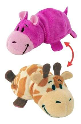 Мягкая игрушка 1 TOY Вывернушка плюшевая Жираф Бегемот 12 см