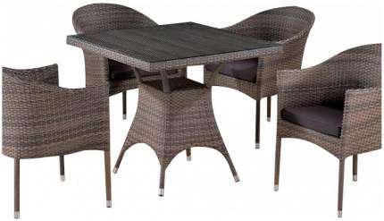 Комплект мебели Afina Garden T220BG/Y350BG-W1289 Pale (4+1)