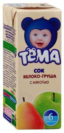 Сок Тёма Яблоко груша с 6 мес 200 мл