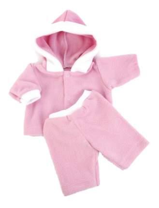 Комплект одежды Флис розовый 40-42 см Карапуз OTF-1708