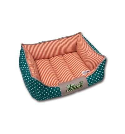 Лежанка для кошек и собак Katsu 45x55x23см зеленый