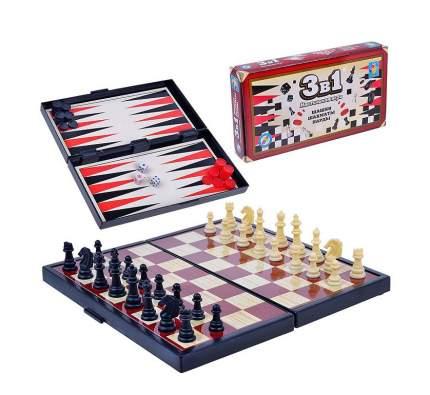 Настольная игра 1Toy 3 в 1: Шашки, шахматы, нарды на магните