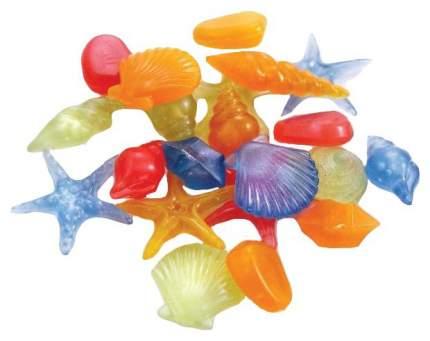 Ракушки для аквариума Laguna светящиеся, разноцветные 3001LD 130 г