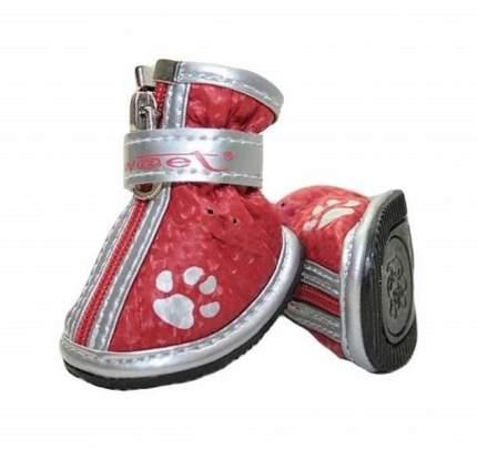 Обувь для собак Triol размер M, 4 шт красный