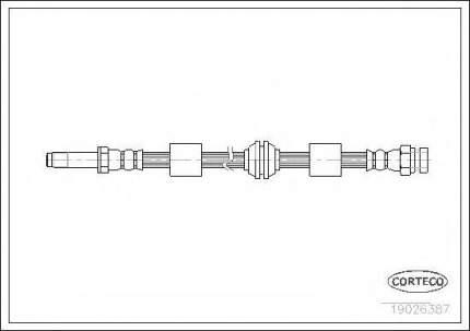 Шланг тормозной Corteco 19026387
