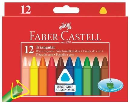 Восковые мелки Faber Castell Triangular 120010, 12 цветов