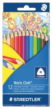 Карандаши цветные NorisClub 12 цв. трехгранные без ABS-системы Staedtler
