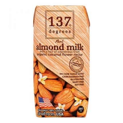 Молоко 137 Degrees миндальное с нектаром кокосовых соцветий180 мл