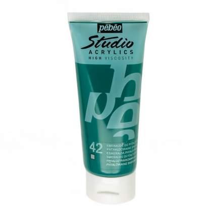 Акриловая краска Pebeo Studio Acrylics 831-042 изумрудный фталоцианин 100 мл