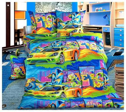 Комплект Детского постельного белья Граффити 1,5 спальный бязь