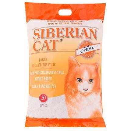 Наполнитель для кошачьего туалета Сибирская кошка Оптима, комкующийся, 20л