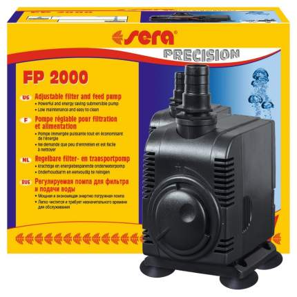Помпа для аквариума подъемная Sera FP 2000, погружная, 2000 л/ч, 43 Вт