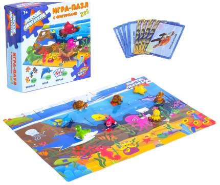 Игра-пазл на логику Морские обитатели, с фигурками, 3 в 1 WOOW TOYS