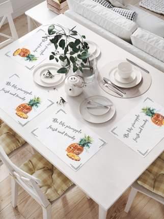 JoyArty Комплект салфеток для сервировки стола «Ананас акварелью» (32х46 см, 4 шт.)
