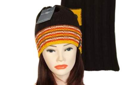 Комплект (шапка,шарф) Tranini 1095 COL-2 коричневый