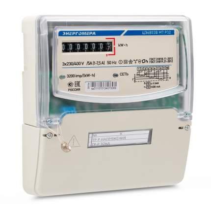 Счетчик электроэнергии Энергомера ЦЭ6803В/1 Р32, 3 фазы, 1 тариф, 230В 10А