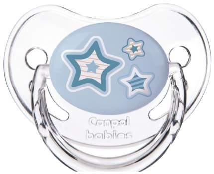 Пустышка Canpol Newborn baby симметричная силикон 0-6 мес. арт. 22/580 цвет голубой