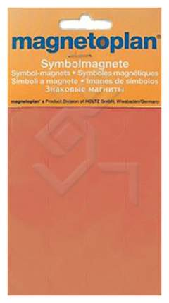 Набор магнитов Magnetoplan 1253244 Символьные из 30-ти штук 15 мм Оранжевый