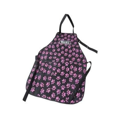 Фартук для грумера MOSER Wahl Logo Aprons pocket, черный с розовыми лапками