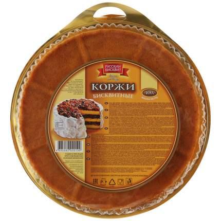 Коржи для торта Русский Бисквит бисквитные светлые 400 г
