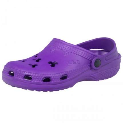 Шлепанцы детские LIGHT резиновые фиолетовые, размер 35