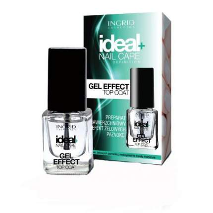 Верхнее покрытие с эффектом гелевых ногтей INGRID Gel effect top coat