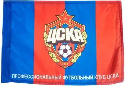 Флаг ПФК ЦСКА Эмблема 45 х 60 красный/синий