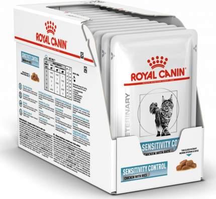 Влажный корм для кошек ROYAL CANIN Sensitivity Control, курица с рисом, 12шт по 85г