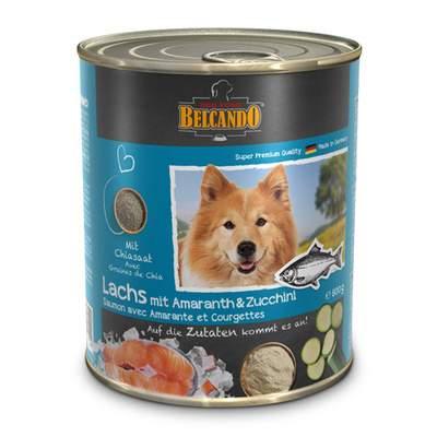 Консервы для собак BELCANDO, лосось с амарантом и цукини, 800г