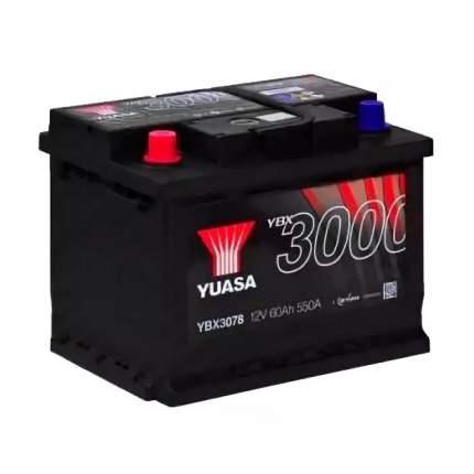 Аккумуляторная Батарея Smf[12v 60ah 550a B13] YUASA YBX3078-060